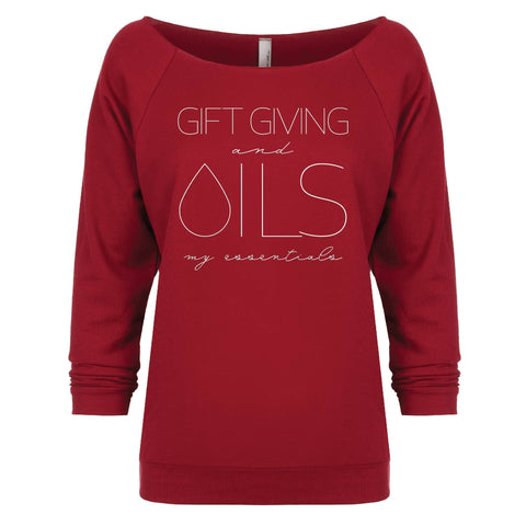 GIFT GIVING and OILS my essentials - 3/4 Sleeve Raglan