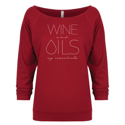 WINE and OILS: my essentials - 3/4 Sleeve Raglan