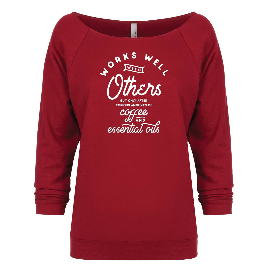Works Well with Others - 3/4 Sleeve Raglan Essential Oil Style young living tshirts funny oil shirts popular oil shirts doterra tshirts convention shirts