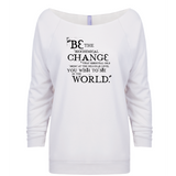 Be the Change - 3/4 Sleeve Raglan Essential Oil Style young living tshirts funny oil shirts popular oil shirts doterra tshirts convention shirts