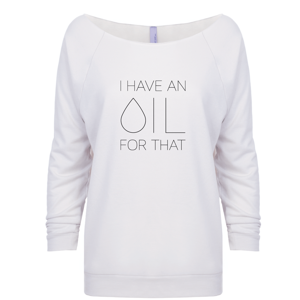 I Have an OIL for That (Black Lettering) - 3/4 Sleeve Raglan Essential Oil Style young living tshirts funny oil shirts popular oil shirts doterra tshirts convention shirts