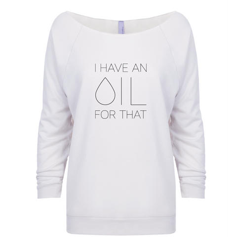 I Have an OIL for That (Black Lettering) - 3/4 Sleeve Raglan