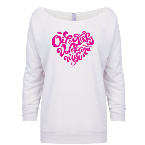 Valentine Wishes - White Raglan