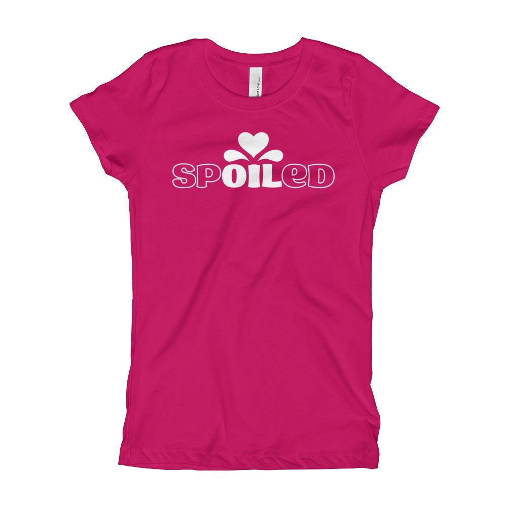YOUTH | Girl's Princess Cut Tee - spOILed Essential Oil Style young living tshirts funny oil shirts popular oil shirts doterra tshirts convention shirts