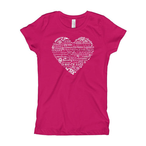 YOUTH | Girl's Princess Cut Tee - Whimsical Heart