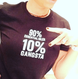 10% Percent GANGSTA - Slim Crew Essential Oil Style young living tshirts funny oil shirts popular oil shirts doterra tshirts convention shirts