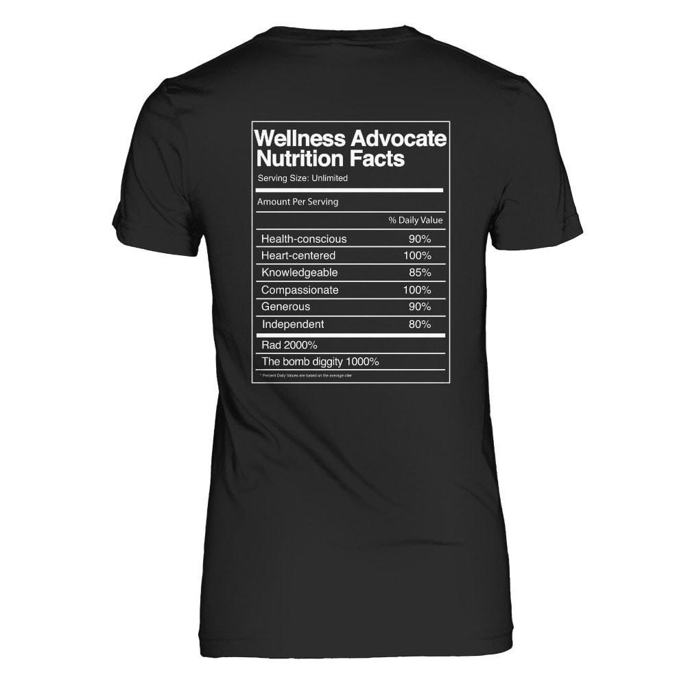 Wellness Advocate Nutrition Facts - Slim Crew Essential Oil Style young living tshirts funny oil shirts popular oil shirts doterra tshirts convention shirts