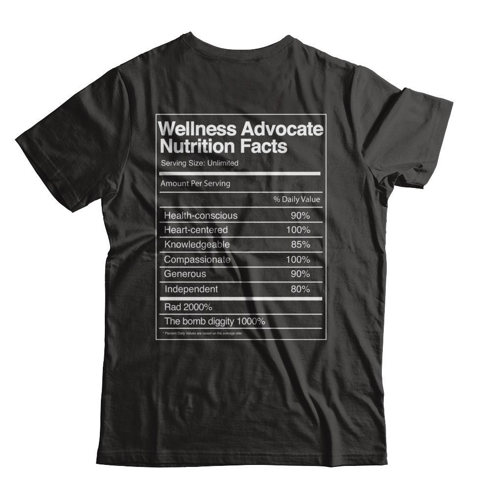 Wellness Advocate Nutrition Facts - Unisex Crew Essential Oil Style young living tshirts funny oil shirts popular oil shirts doterra tshirts convention shirts