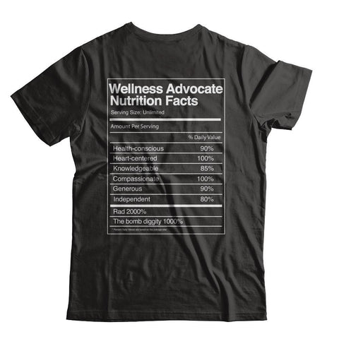 Wellness Advocate Nutrition Facts - Unisex Crew