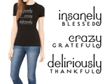 Blessed • Grateful • Thankful - Slim Crew Essential Oil Style young living tshirts funny oil shirts popular oil shirts doterra tshirts convention shirts