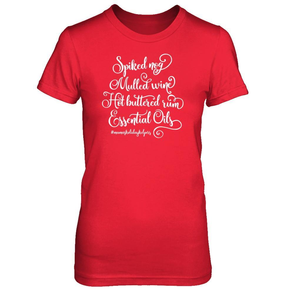 Mama's Holiday Helpers - Slim Crew Essential Oil Style young living tshirts funny oil shirts popular oil shirts doterra tshirts convention shirts