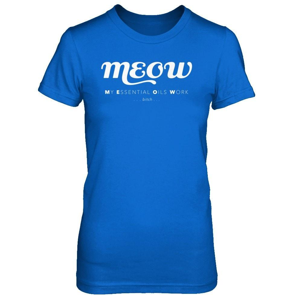 MEOW - Slim Crew Essential Oil Style young living tshirts funny oil shirts popular oil shirts doterra tshirts convention shirts