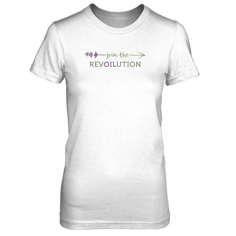 Join the RevOILution (feminine) - Slim Crew Essential Oil Style young living tshirts funny oil shirts popular oil shirts doterra tshirts convention shirts