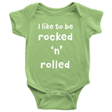 BABY ONESIE - I Like to be Rocked 'n' Rolled Essential Oil Style young living tshirts funny oil shirts popular oil shirts doterra tshirts convention shirts