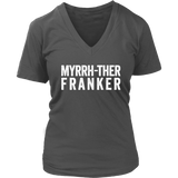 Myrrh-ther Franker - V-Neck up to 4XL Essential Oil Style young living tshirts funny oil shirts popular oil shirts doterra tshirts convention shirts