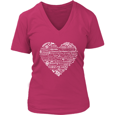 Whimsical Heart - V-Neck up to 4XL