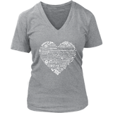 Whimsical Heart - V-Neck up to 4XL Essential Oil Style young living tshirts funny oil shirts popular oil shirts doterra tshirts convention shirts