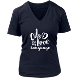Love Language - V-Neck up to 4XL Essential Oil Style young living tshirts funny oil shirts popular oil shirts doterra tshirts convention shirts
