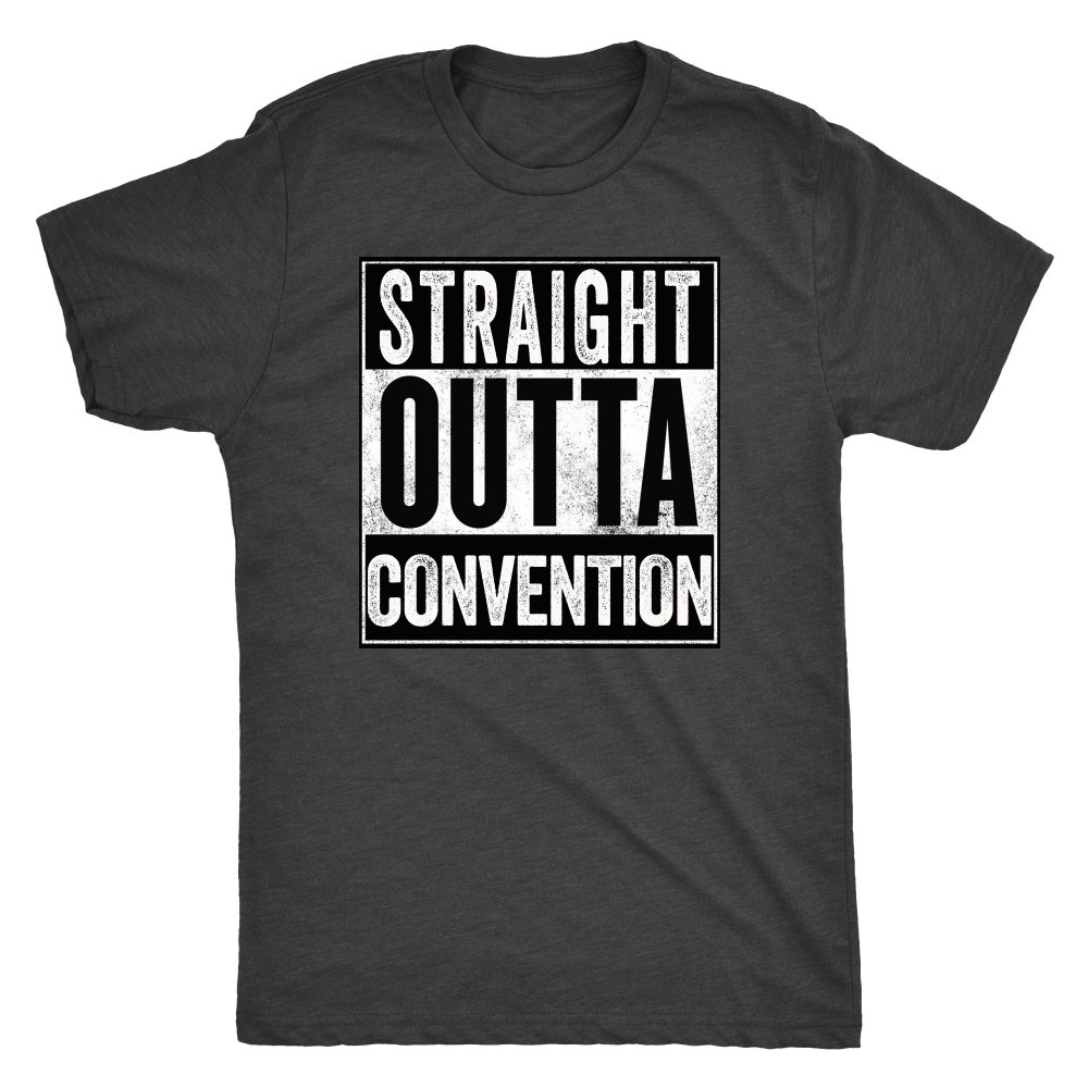STRAIGHT OUTTA CONVENTION - Vintage Triblend Tee Essential Oil Style young living tshirts funny oil shirts popular oil shirts doterra tshirts convention shirts