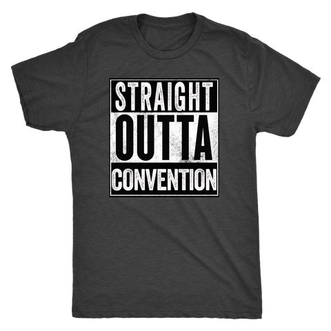 STRAIGHT OUTTA CONVENTION - Vintage Triblend Tee