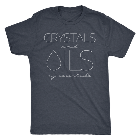 CRYSTALS and OILS: my essentials -  Vintage Triblend Tee