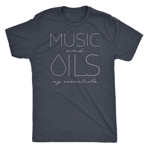 MUSIC and OILS: my essentials  - Vintage Triblend Tee