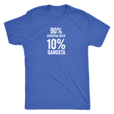 10% Percent GANGSTA -  Vintage Triblend Tee Essential Oil Style young living tshirts funny oil shirts popular oil shirts doterra tshirts convention shirts