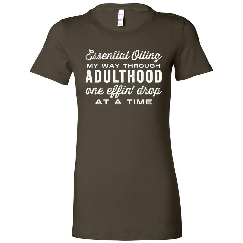 Adulthood one effin' drop at a time - Slim Fitted Crew | 13 Colors