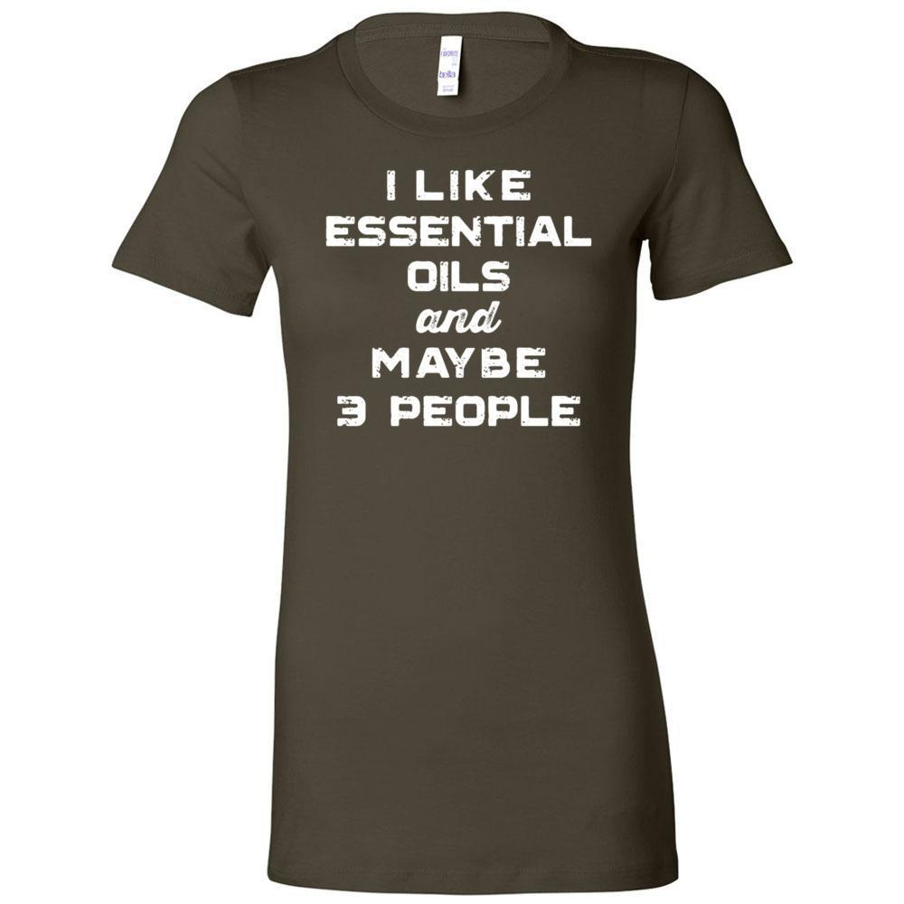 I Like Essential Oils and Maybe 3 People - Slim Fitted Crew | 13 Colors Essential Oil Style young living tshirts funny oil shirts popular oil shirts doterra tshirts convention shirts