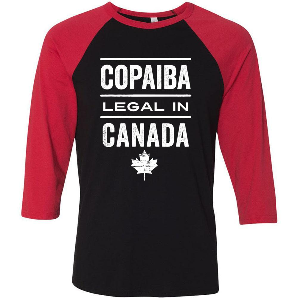 COPAIBA: Legal in CANADA 🇨🇦 - Unisex Classic Baseball Tee | 8 colors Essential Oil Style young living tshirts funny oil shirts popular oil shirts doterra tshirts convention shirts