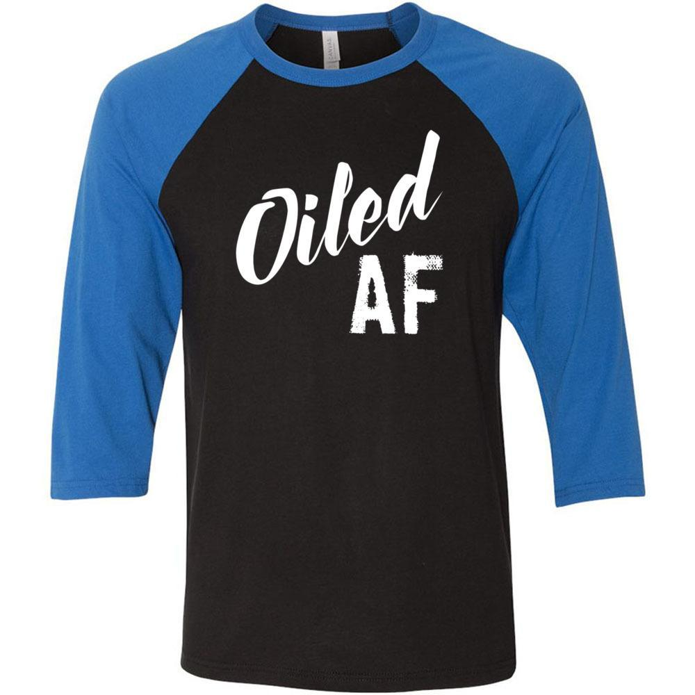 Oiled AF - Unisex Classic Baseball Tee | 8 colors Essential Oil Style young living tshirts funny oil shirts popular oil shirts doterra tshirts convention shirts