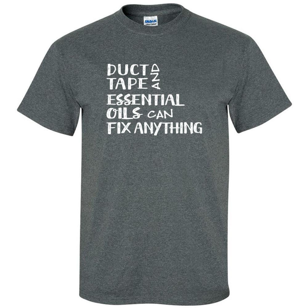 Duct Tape - Unisex Crew | 12 colors | sizes up to 5XL Essential Oil Style young living tshirts funny oil shirts popular oil shirts doterra tshirts convention shirts