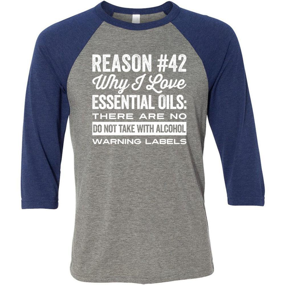 No Warning Labels - Unisex Classic Baseball Tee | 8 colors Essential Oil Style young living tshirts funny oil shirts popular oil shirts doterra tshirts convention shirts