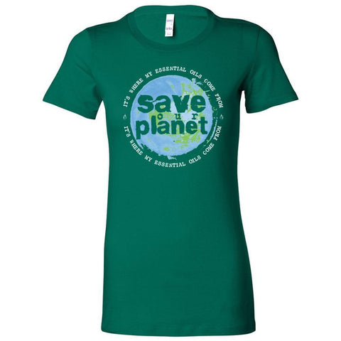 SAVE our PLANET: It's where my essential oils comes from - Slim Fitted Crew | 13 Colors