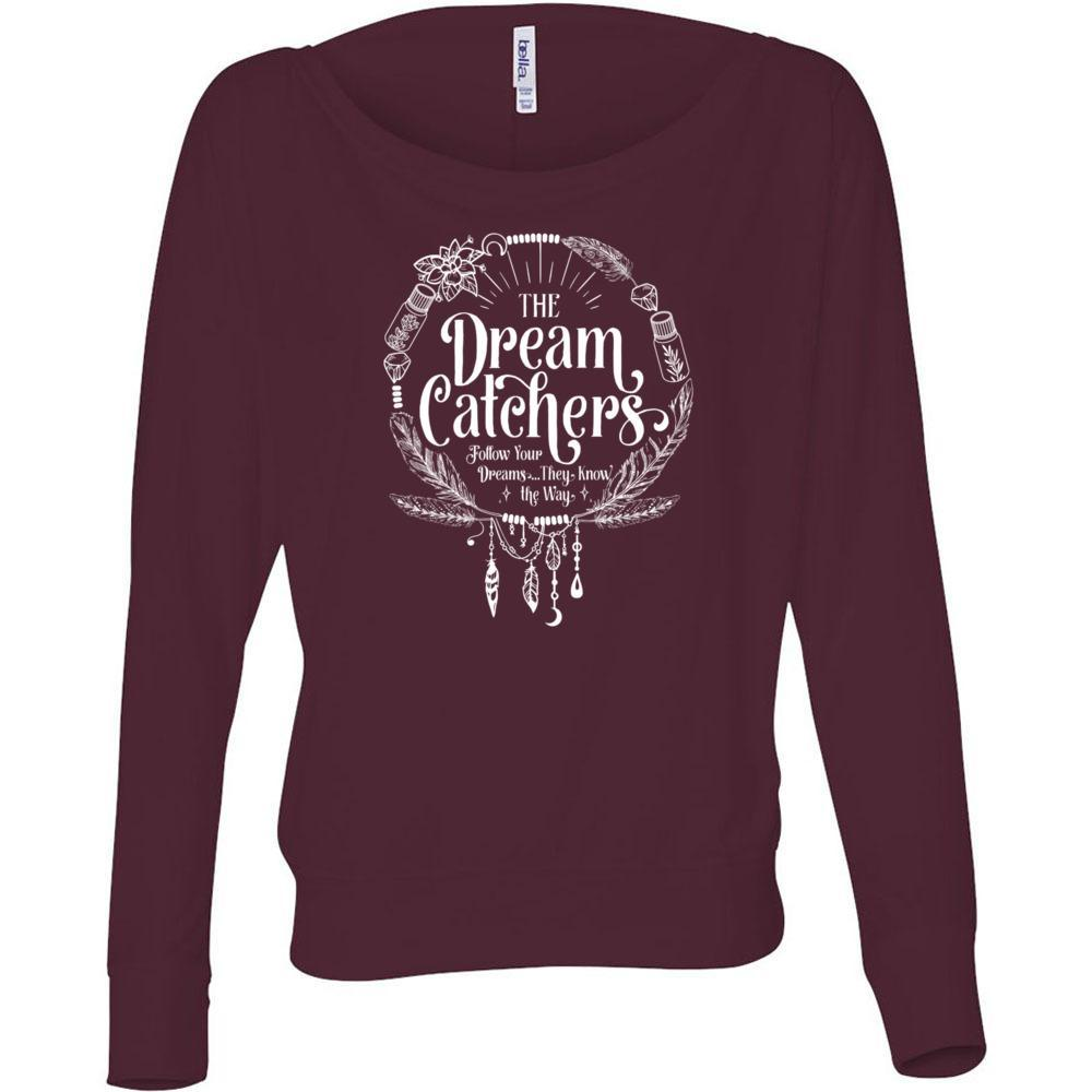 The Dream Catchers with tag - Women's Flowy Long Sleeve Off Shoulder Tee