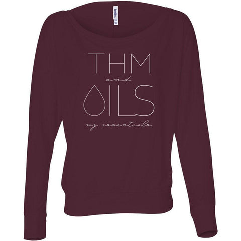 THM and OILS: my essentials  - Flowy Long Sleeve Off Shoulder Tee