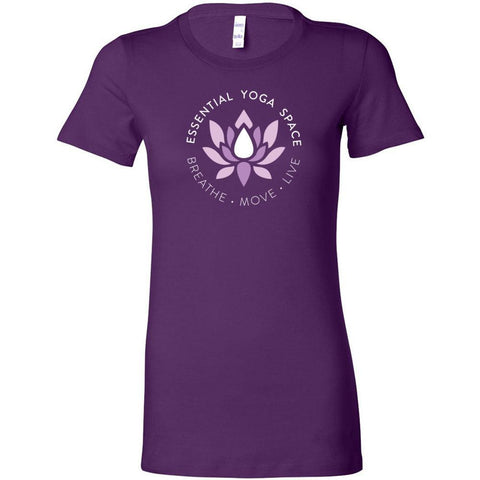Essential Yoga Space Logo - Women's Slim Crew