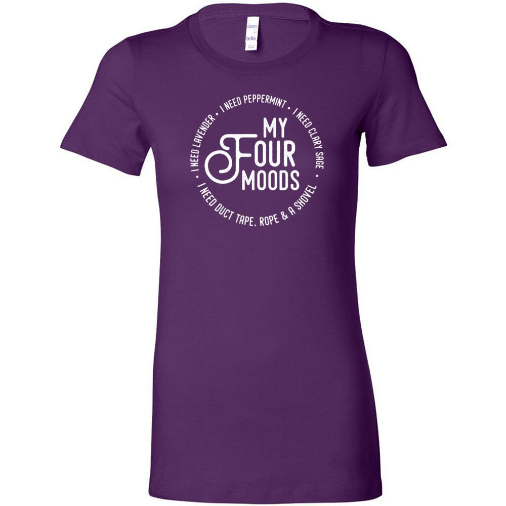 My Four Moods - Slim Fitted Crew | 13 Colors Essential Oil Style young living tshirts funny oil shirts popular oil shirts doterra tshirts convention shirts