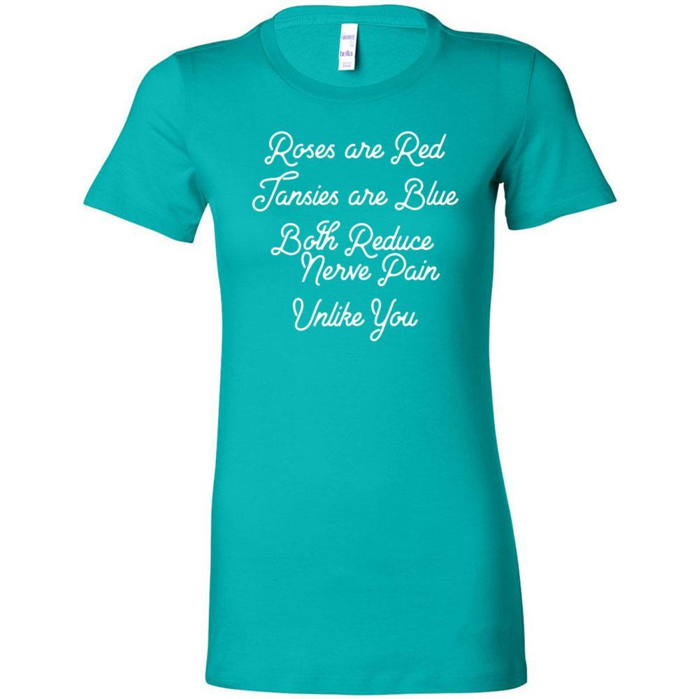 Roses are Red, Tansies are Blue - Slim Fitted Crew | 13 Colors Essential Oil Style young living tshirts funny oil shirts popular oil shirts doterra tshirts convention shirts