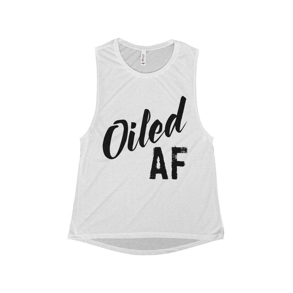 Oiled AF - Women's Flowy Scoop Muscle Tank (OUTLET) Essential Oil Style young living tshirts funny oil shirts popular oil shirts doterra tshirts convention shirts