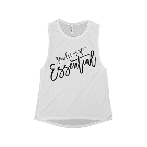 You had me at Essential - Women's Flowy Scoop Muscle Tank