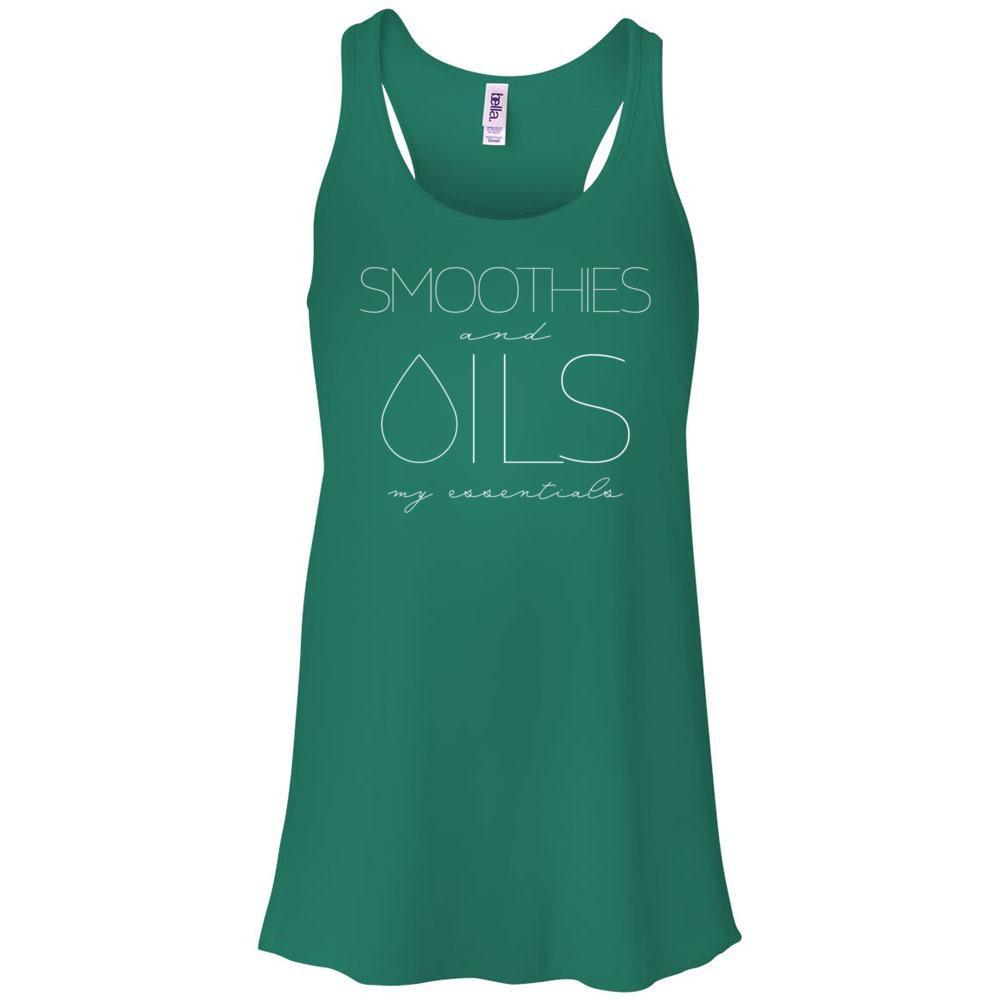 SMOOTHIES and OILS: my essentials - Women's Flowy Racerback Tank Essential Oil Style young living tshirts funny oil shirts popular oil shirts doterra tshirts convention shirts