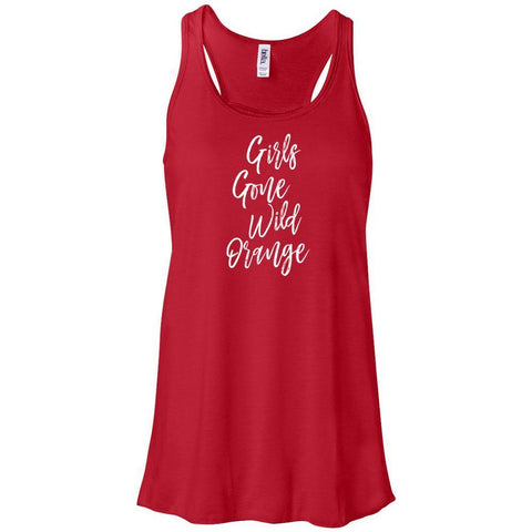 Girls Gone Wild Orange - Women's Flowy Racerback Tank
