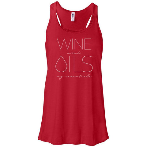 WINE and OILS: my essentials - Women's Flowy Racerback Tank