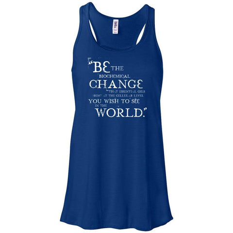 Be the Change - Women's Flowy Racerback Tank