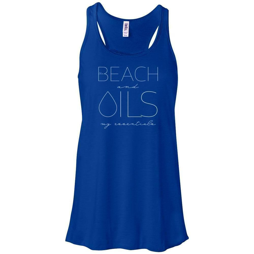 BEACH and OILS: my essentials - Women's Flowy Racerback Tank Essential Oil Style young living tshirts funny oil shirts popular oil shirts doterra tshirts convention shirts