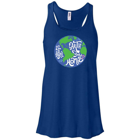 Earth is my Homie - Women's Flowy Racerback Tank