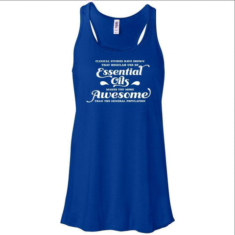 Essential Oils makes you more Awesome - Women's Flowy Racerback Tank