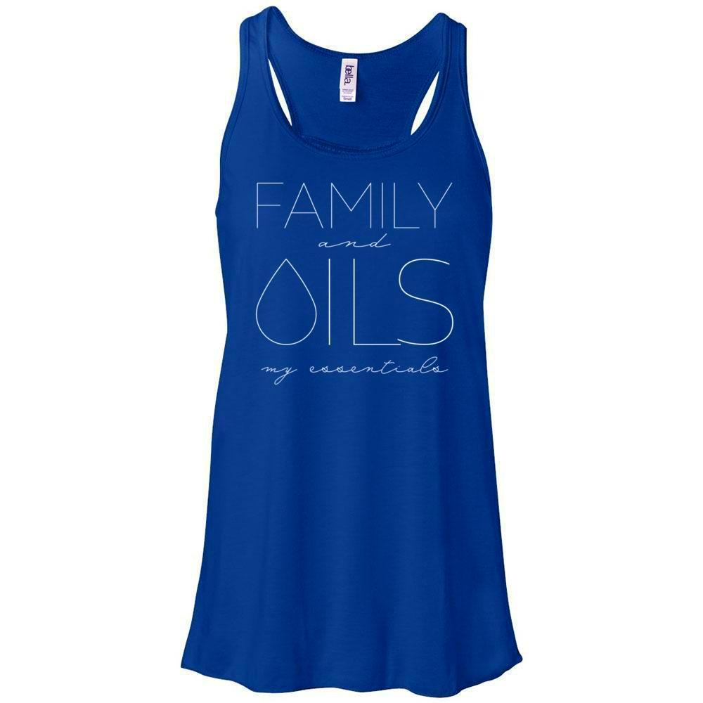 FAMILY and OILS: my essentials - Women's Flowy Racerback Tank