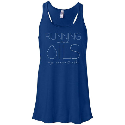 RUNNING and OILS: my essentials  - Women's Flowy Racerback Tank